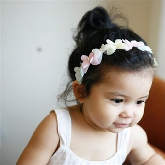 레인보우 나비 머리띠