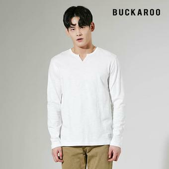 남성 16수 슬럽 슬릿 헨리넥 티셔츠 (B205TS360P)
