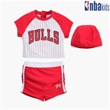 [NBA KIDS] CHI BULLS 래시가드 GIRL SET (K205ST710P)